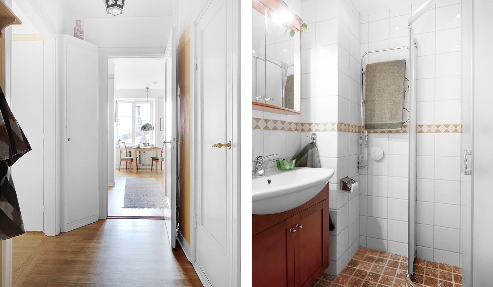 Bastugatan 19, 4 tr - Hall och badrum