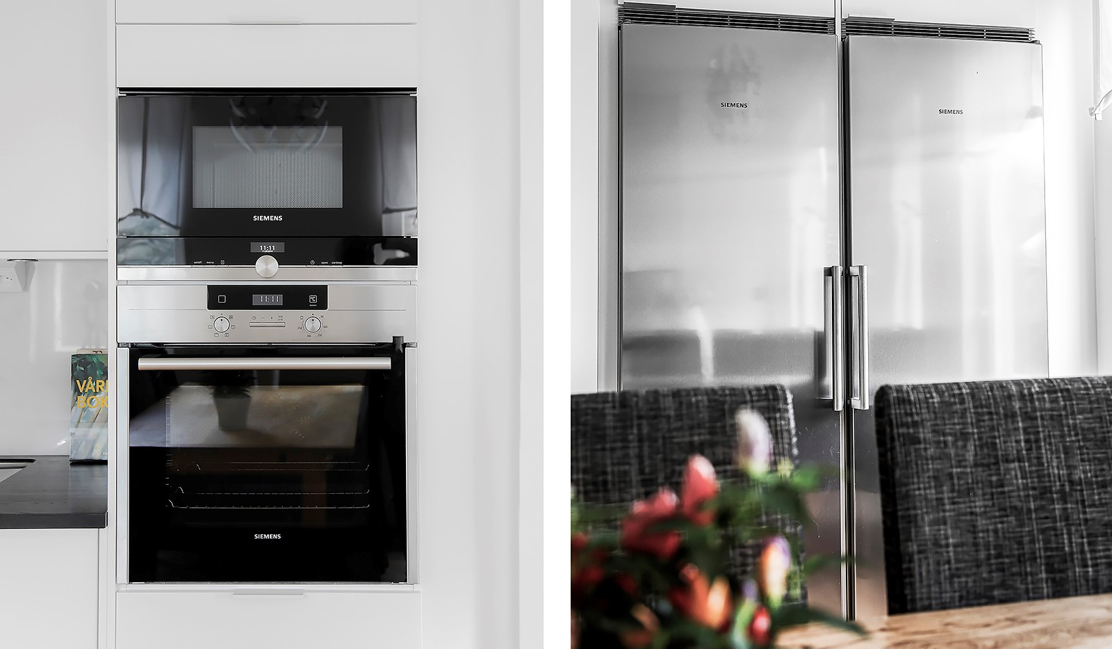 Hammarby Allé 15, vån 5 - Köket är fullt utrustat med vitvaror från Siemens