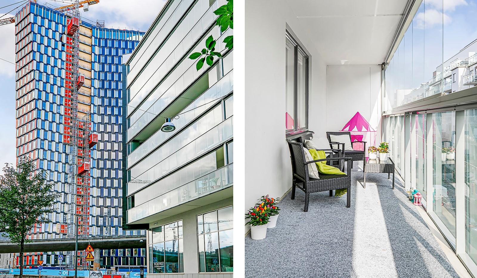 Hammarby Allé 15, vån 5 - Sthlm 01 under uppbyggnad i anslutning till bostaden med planerad uppgång till Gullmarsplans t-bana