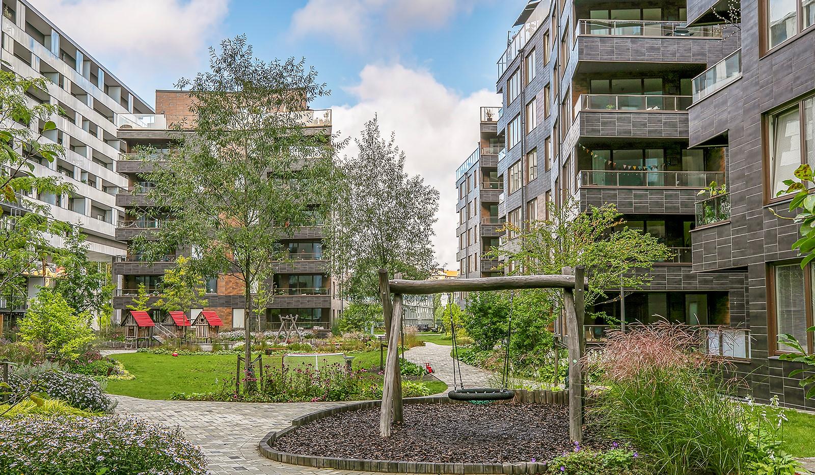 Hammarby Allé 15, vån 5 - Föreningens lekplats är ett paradis för de små