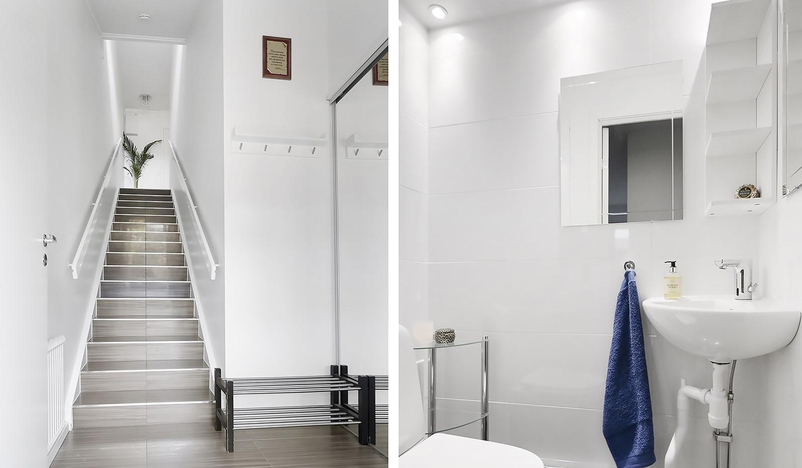 Grusåsgränd 85 - Hall med förvaring/fräsch gäst wc