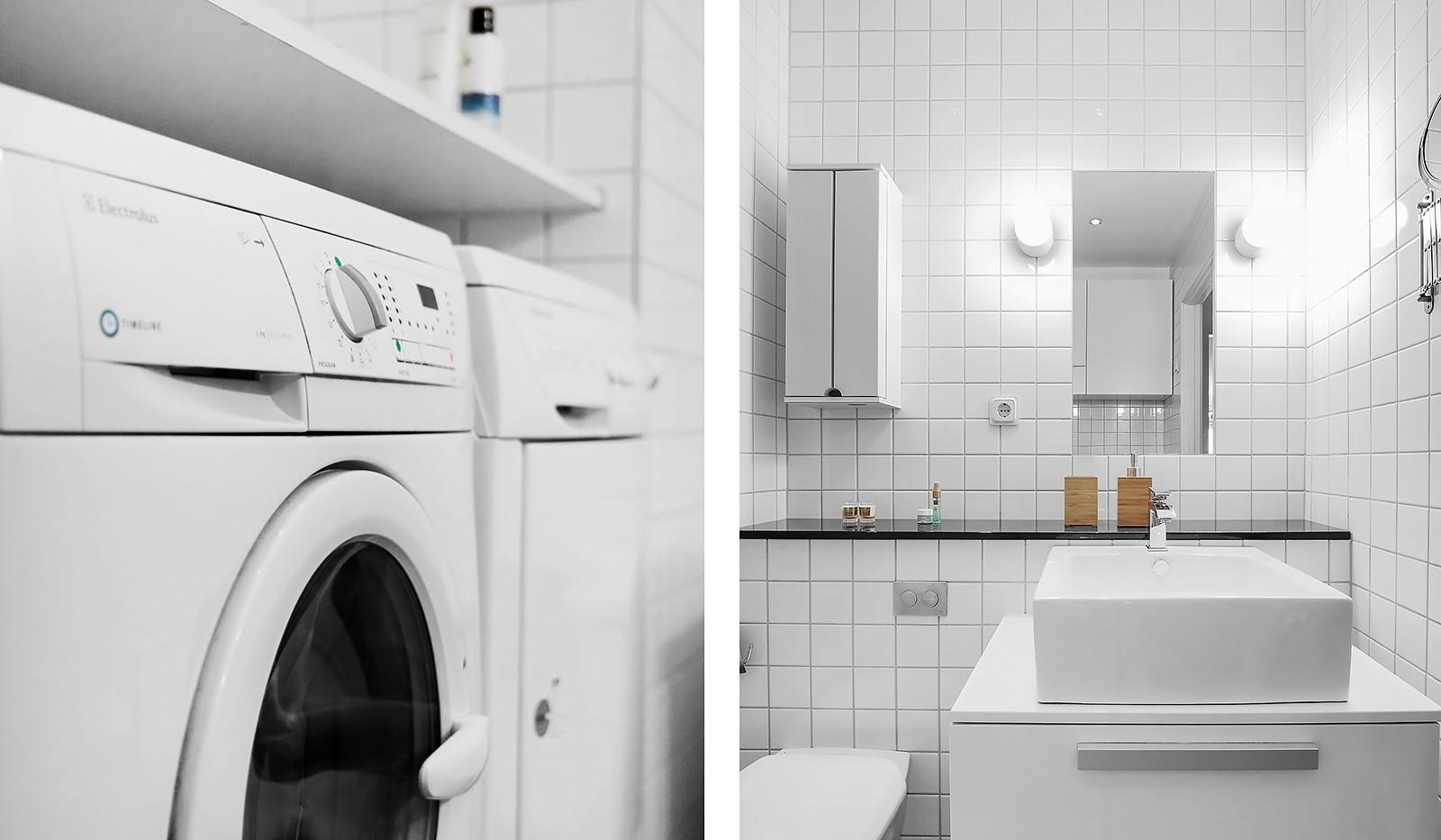 Korphoppsgatan 20 - Badrummet är utrustat med tvättmaskin och torktumlare