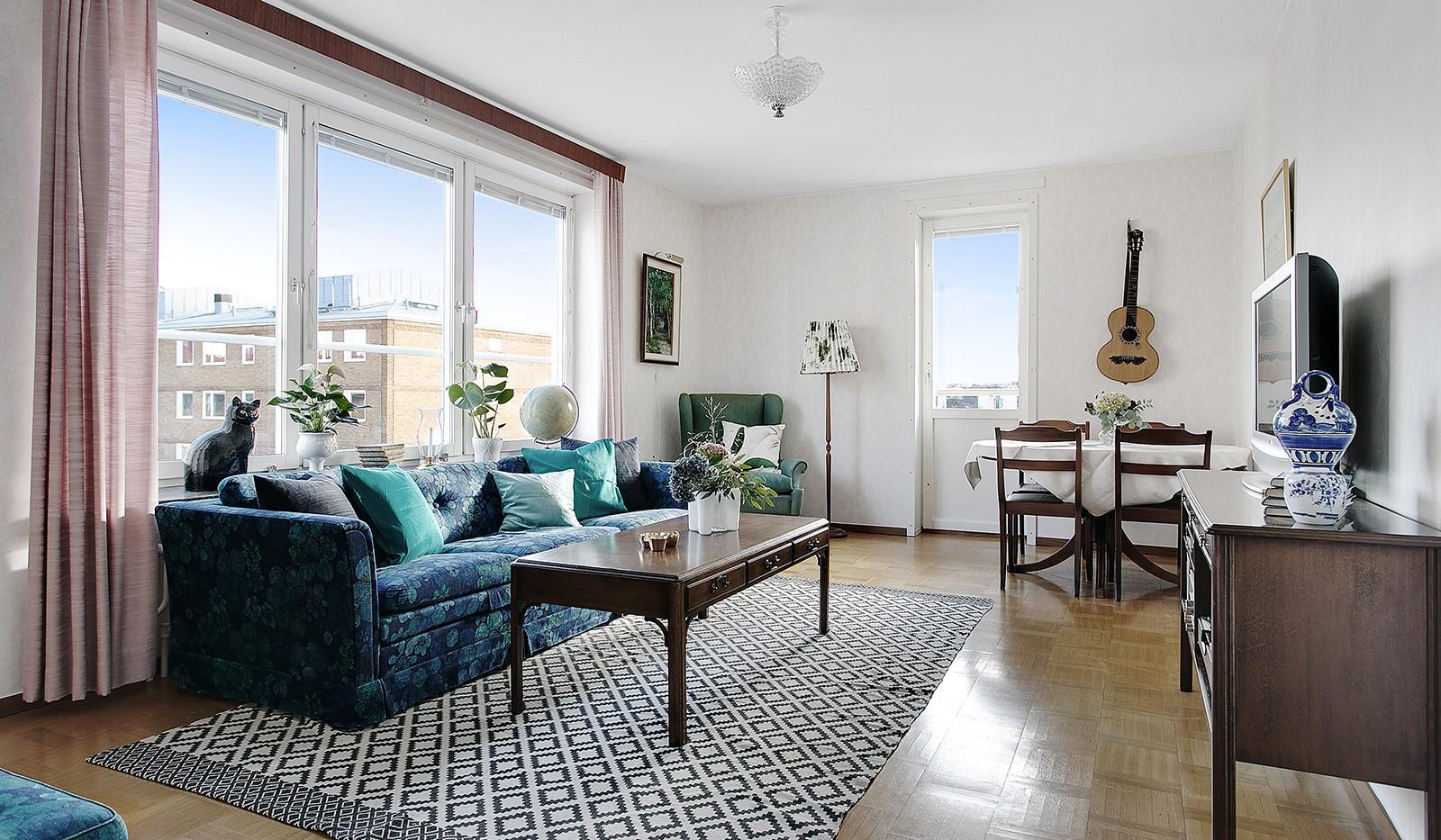 Bohusgatan 35, 5 tr - Härligt ljusinsläpp i vardagsrummet
