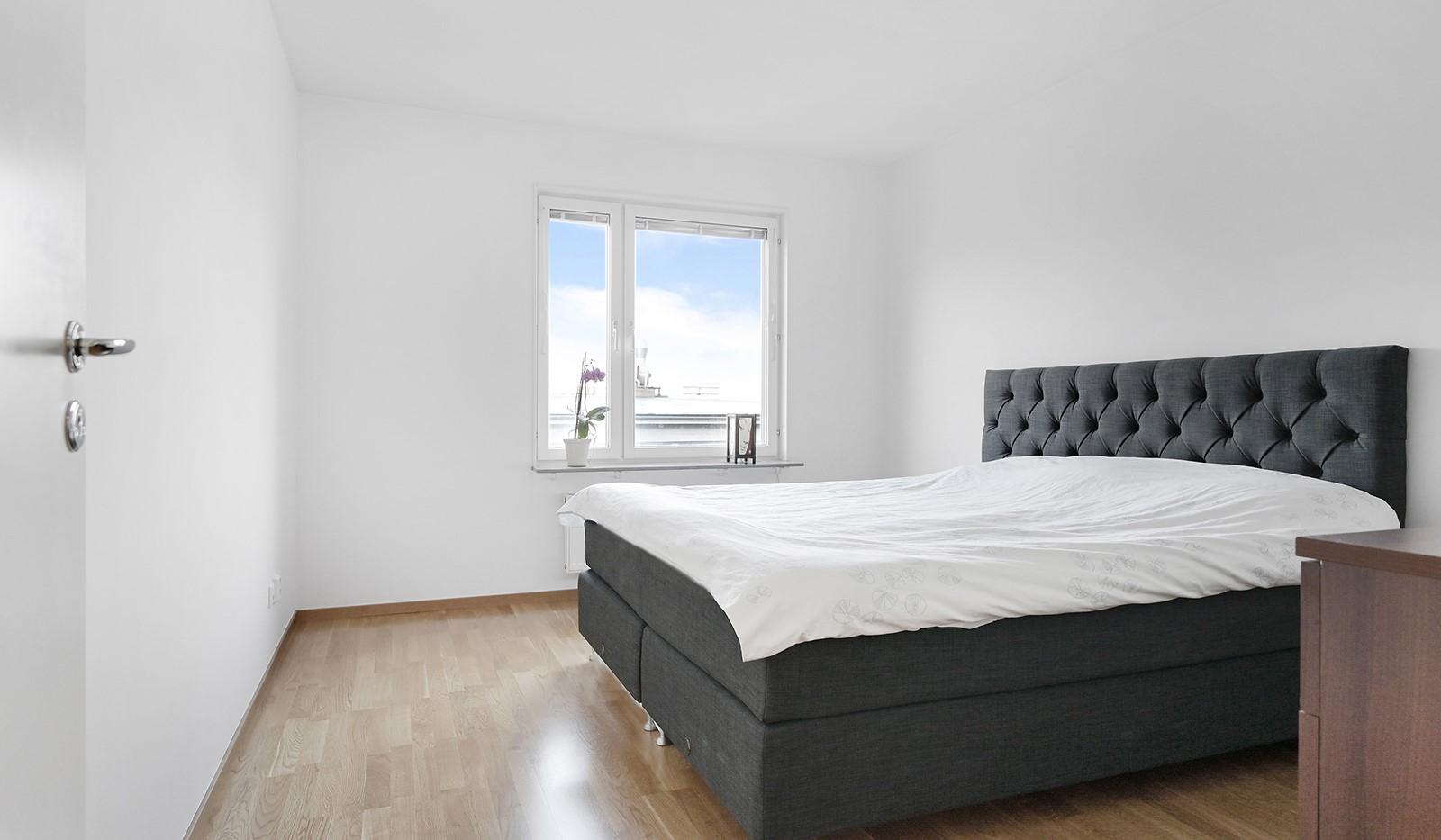 Marieviksgatan 40, 7 tr - Sovrum 1 med plats för dubbelsäng.
