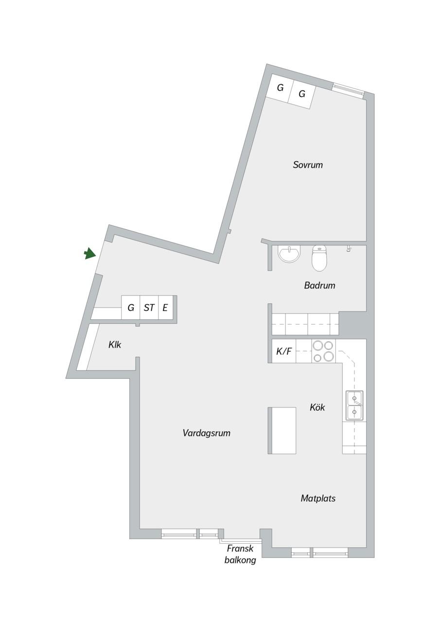 Vingårdsgatan 7 - Planlösning