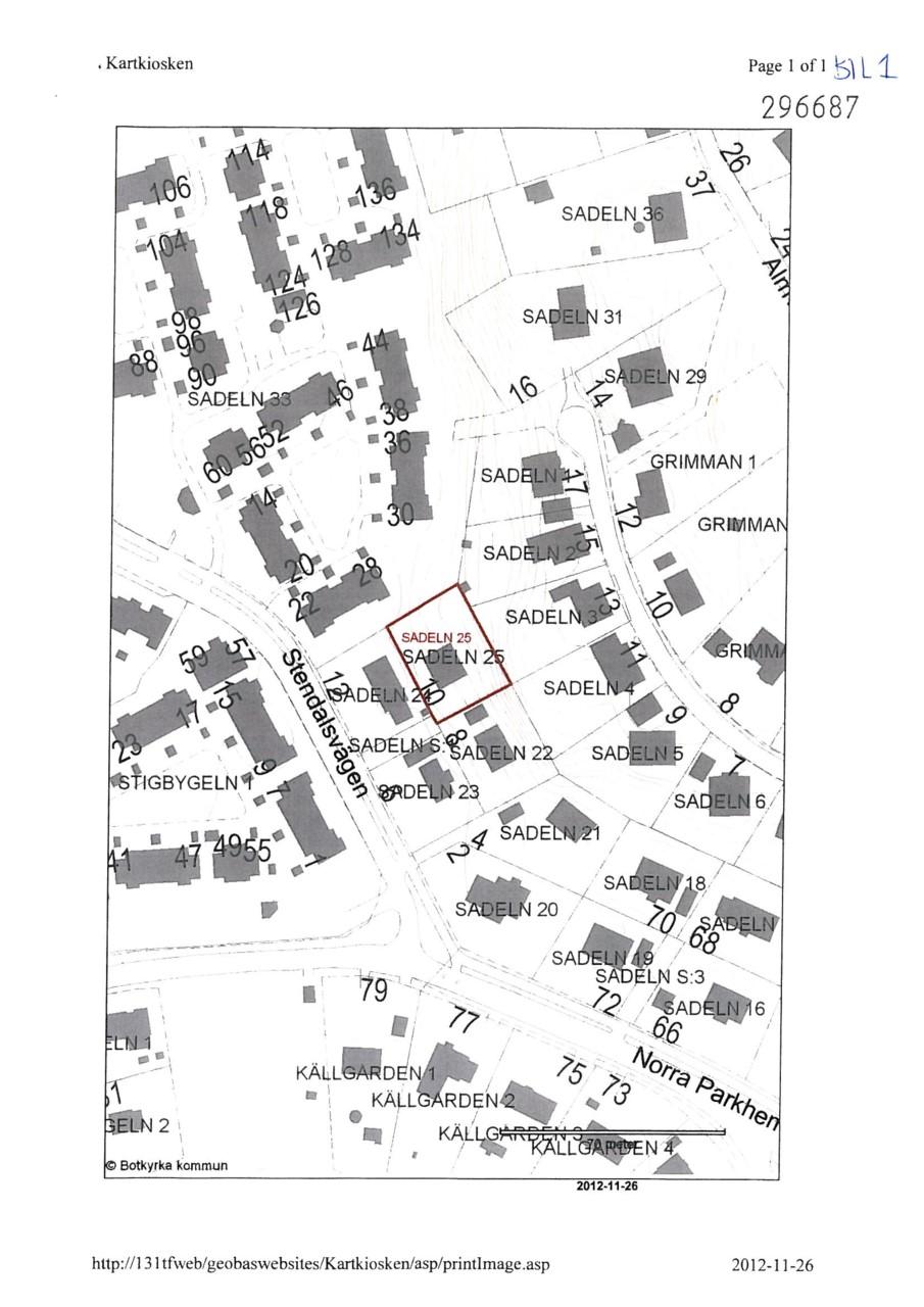 Stendalsvägen 10 - Karta