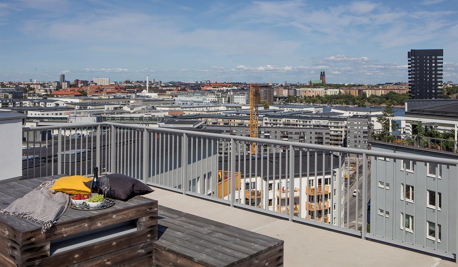 Sjöviksbacken 47, 7 tr - Milsvid utsikt