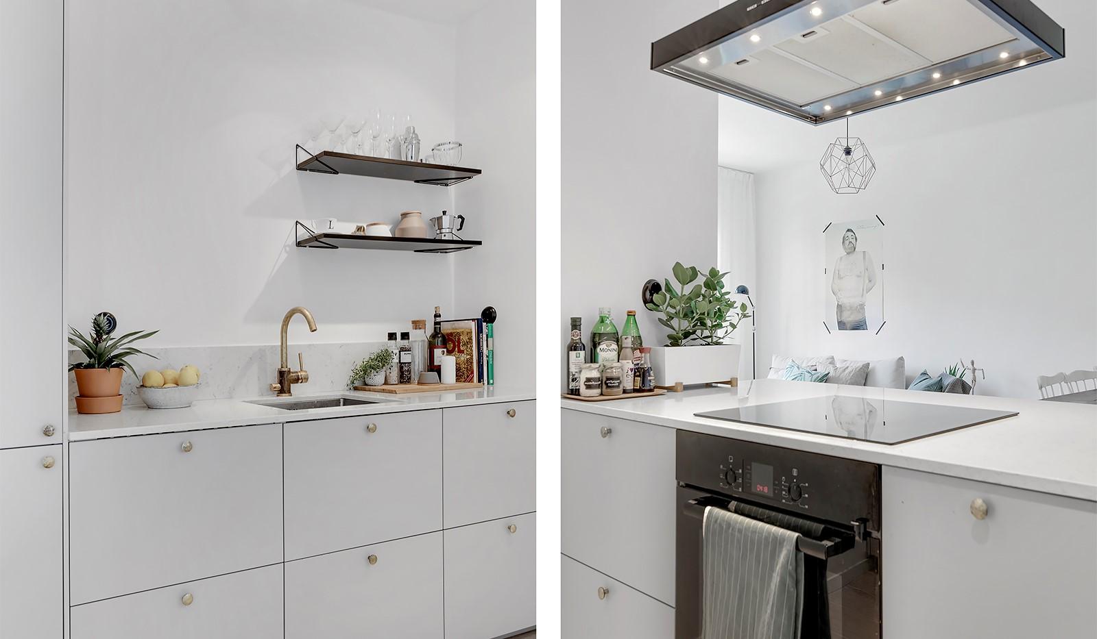 Råggatan 8, 1,5 tr - Topprenoverat kök med mässingsdetaljer