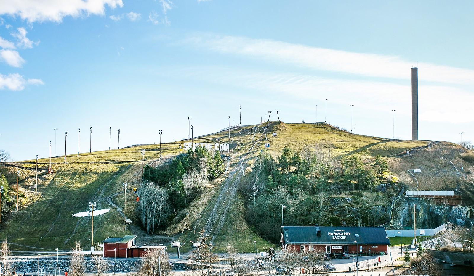 Sickla Kanalgata 64, vån 4 & 5 - Härifrån har man en fantastisk vy över Hammarbybacken