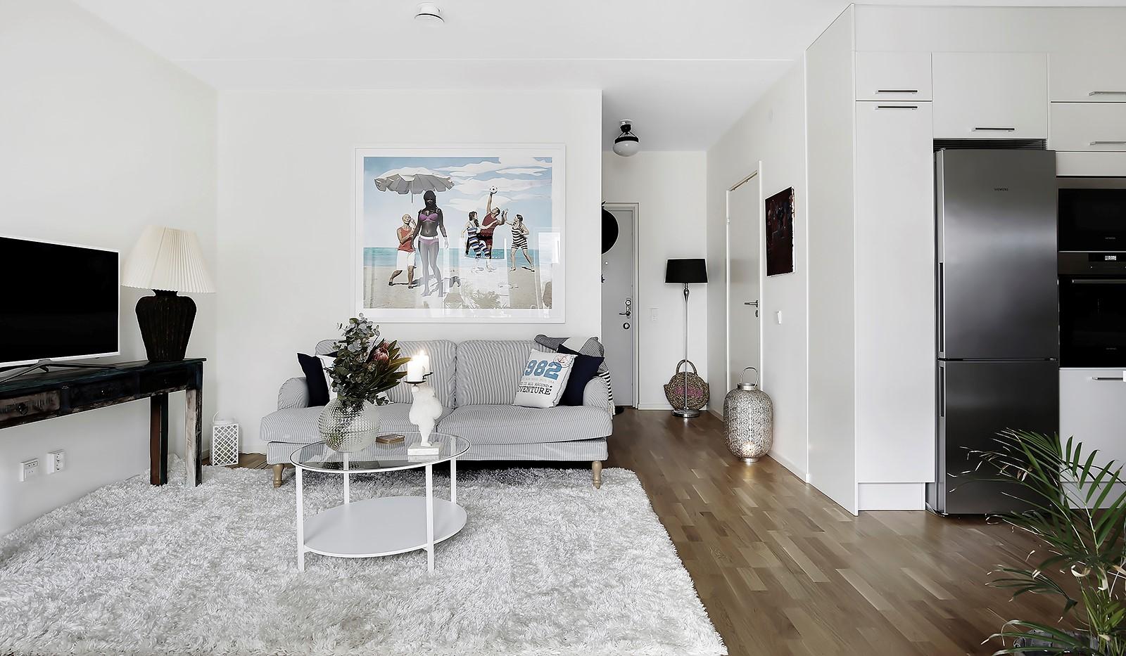 Fredriksdalsgatan 24, vån 6 - Kvadratsmart planlösning som utnyttjar lägenheten till fullo