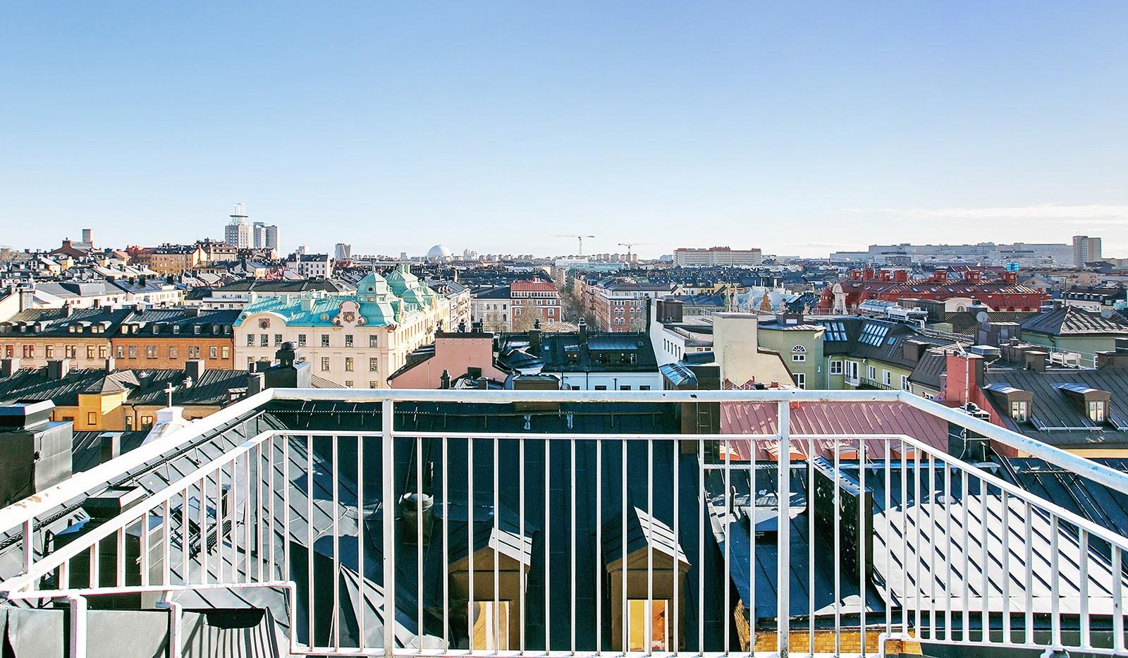 Tavastgatan 15, 2 tr - Spektakulär utsikt från takterrassen