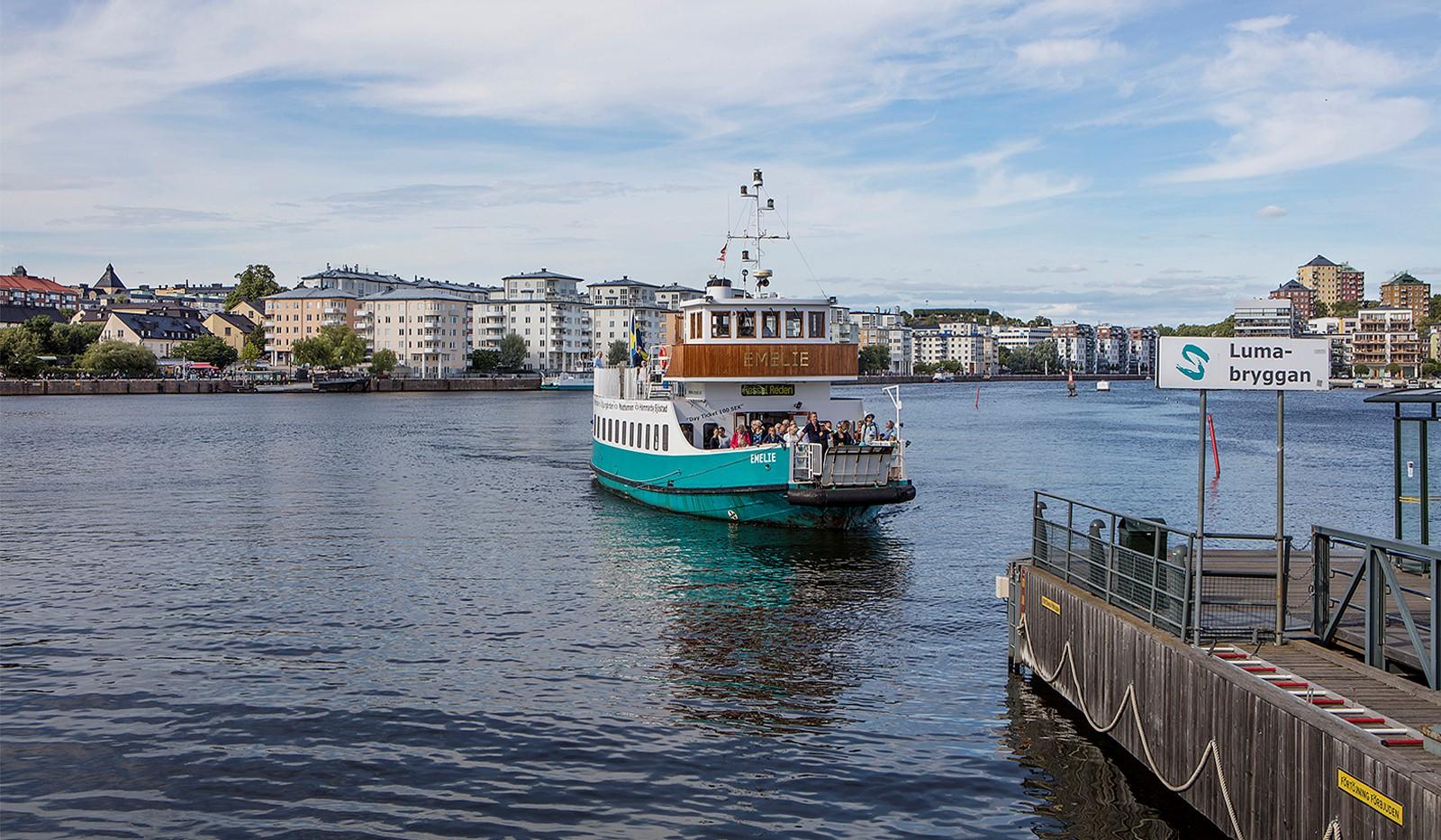 Babordsgatan 5, vån 3 - Båttrafik på Hammarby Sjö