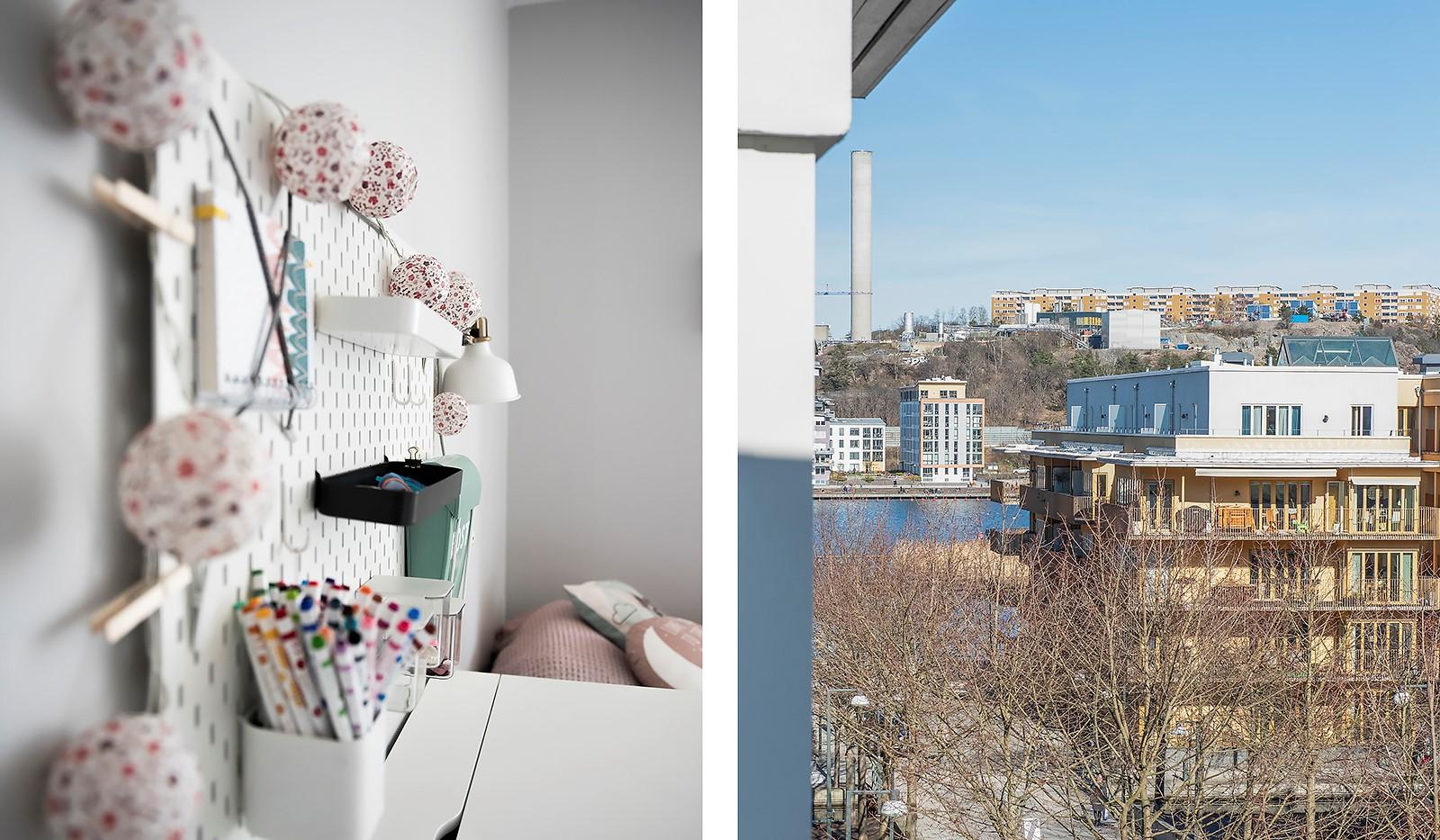 Babordsgatan 5, vån 3 - Från sovrummet har man en vacker vy mot Hammarby Sjö