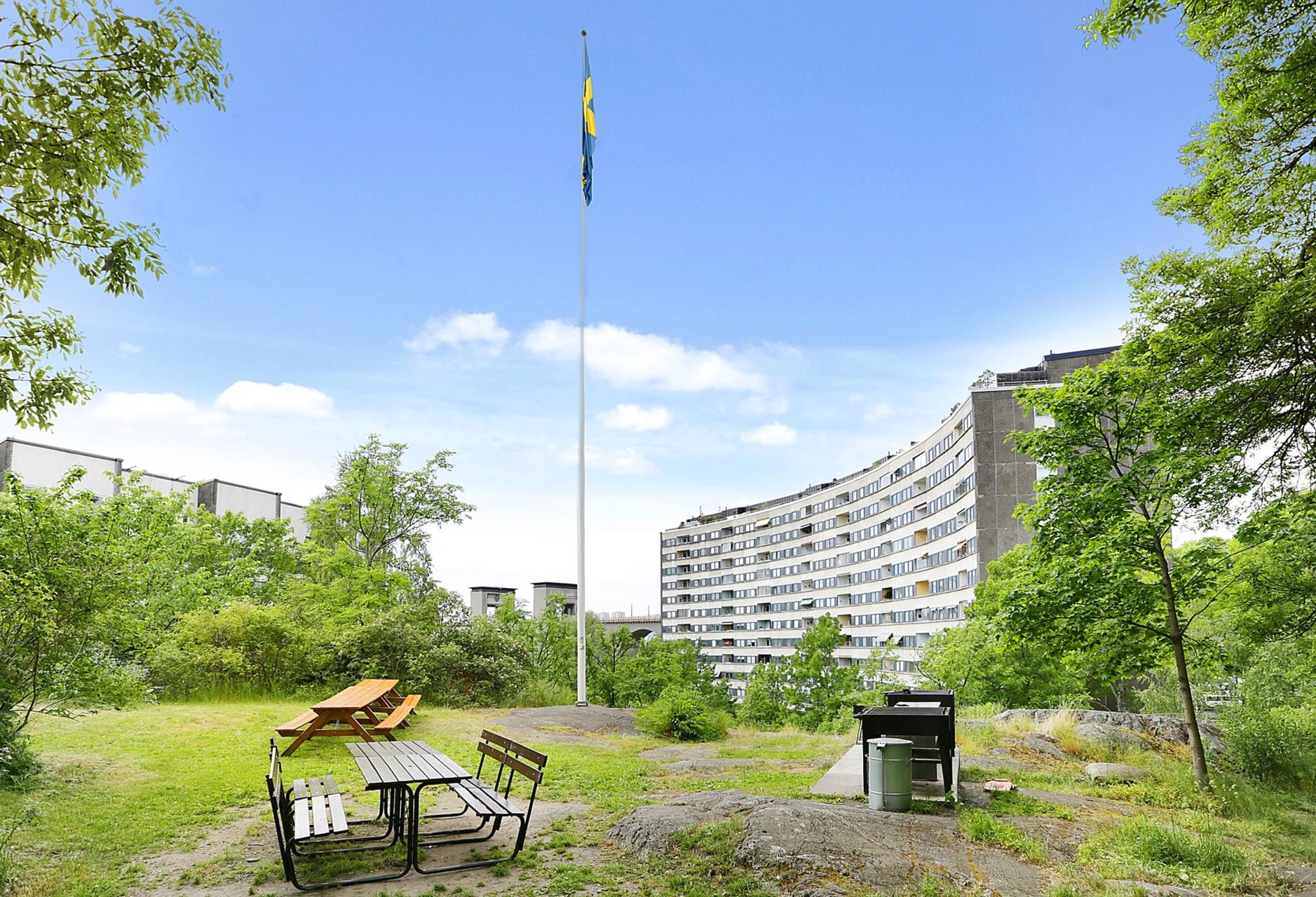 Flintbacken 10, 6 tr - Föreningens grillplats