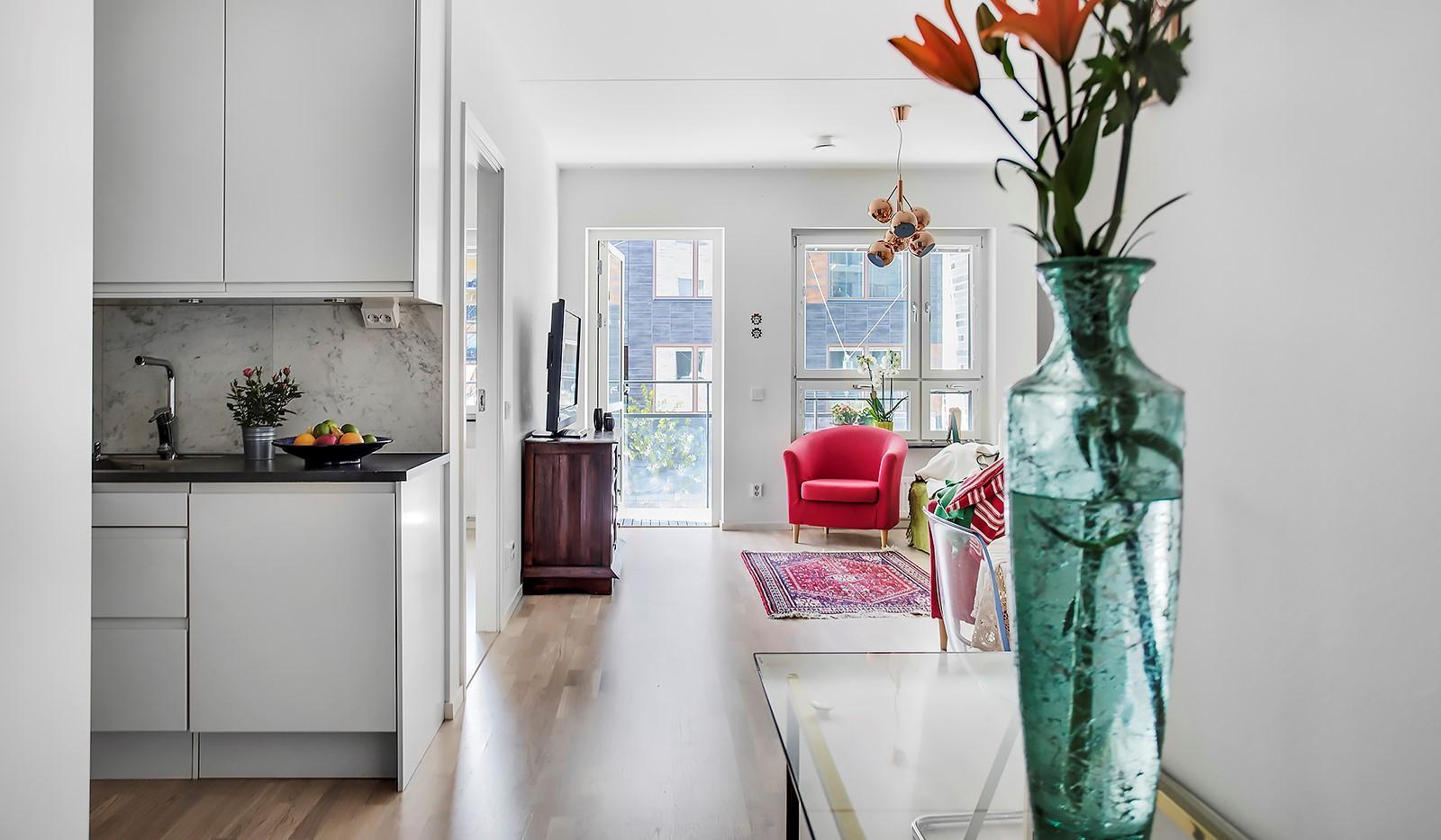 Fredriksdalsgatan 24, vån 2 - Genomtänk planlösning med väl fördelade ytor