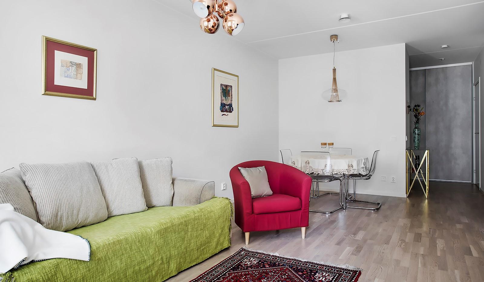 Fredriksdalsgatan 24, vån 2 - Sociala ytor med öppen planlösning