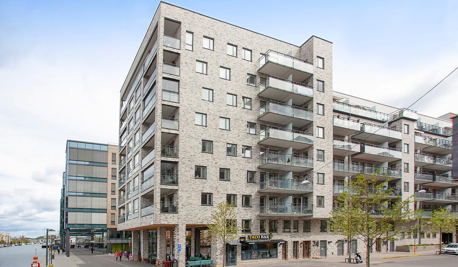 Fredriksdalsgatan 24, vån 2 - Fasadbild