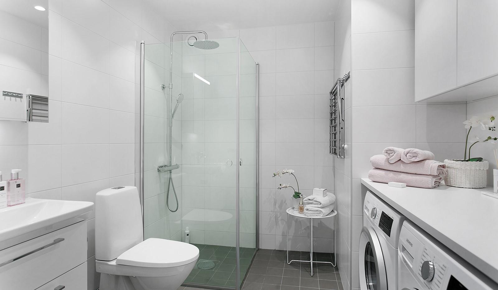 Oskarslundsbacken 13, 2tr - Fullt utrustat badrum med tvättmaskin och torktumlare
