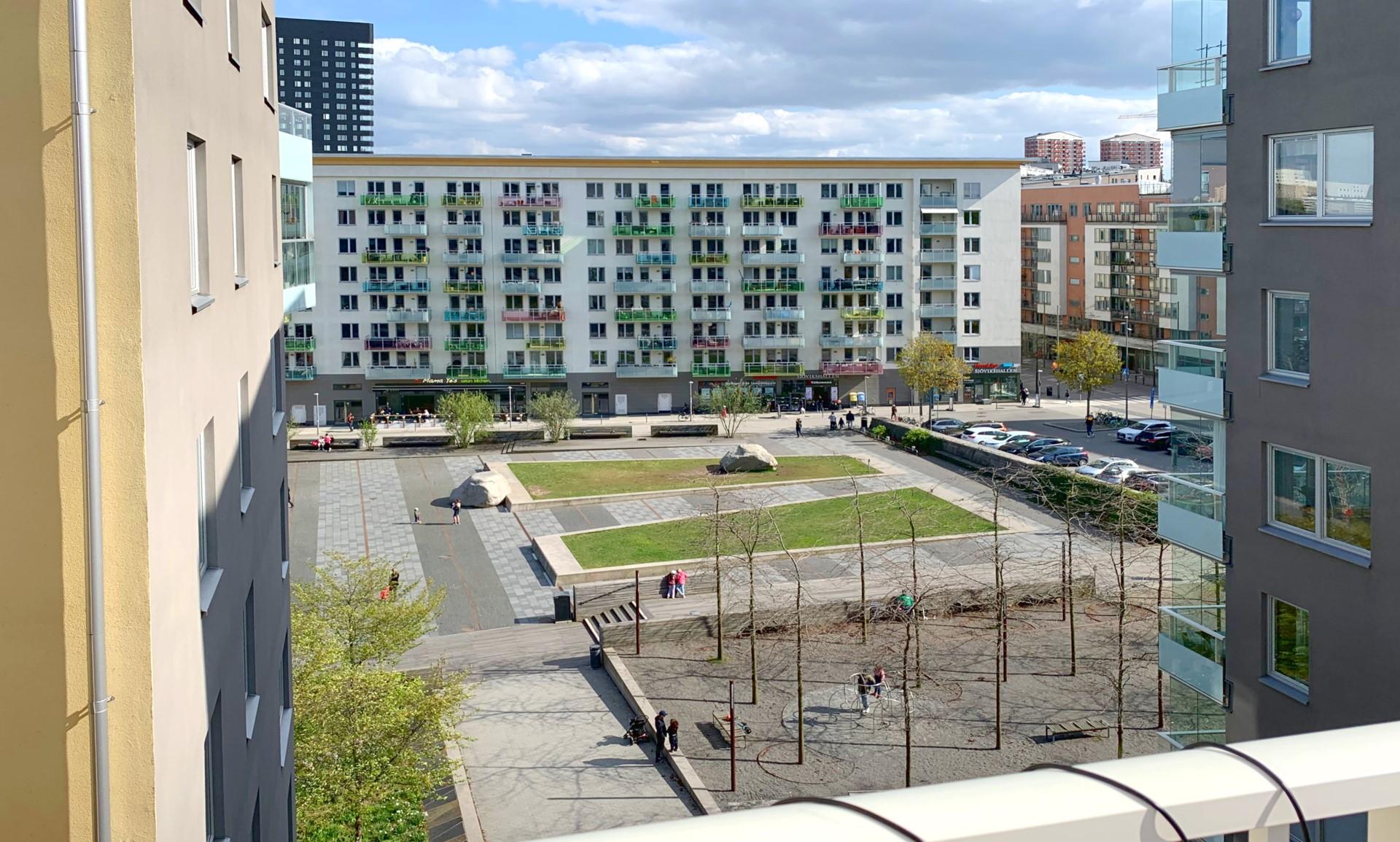 Karaffgatan 3, 6 tr - Utsikt från balkong