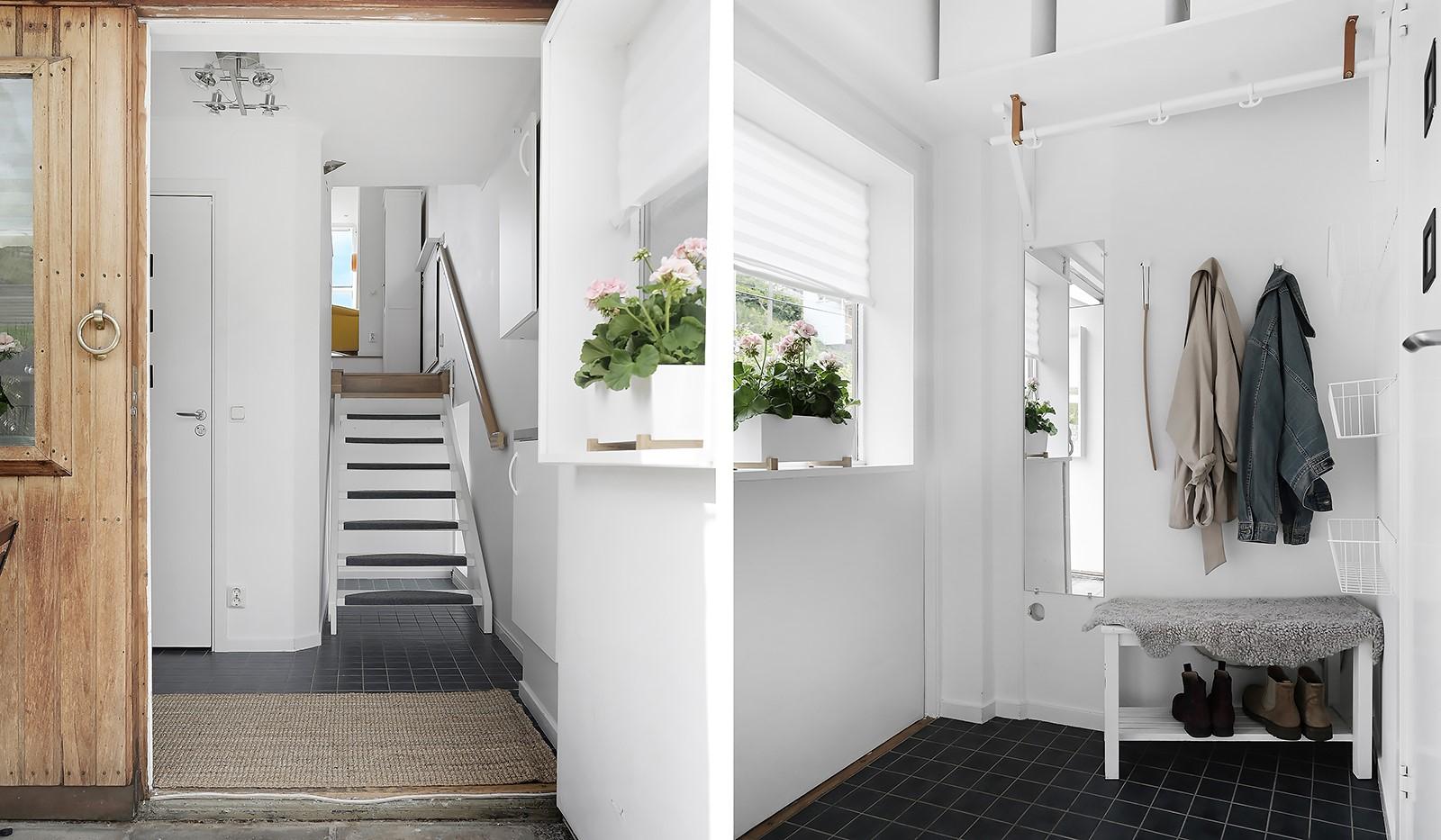 Backebogatan 20 - Hall och trapp upp till vindsvåningen