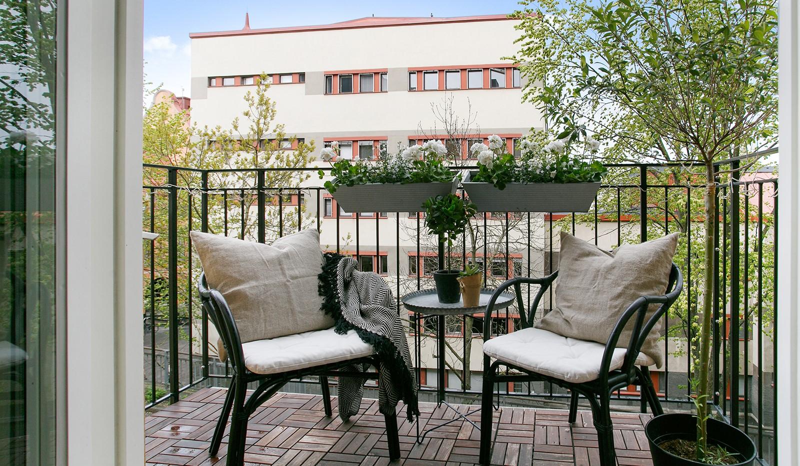 Maria Prästgårdsgata 39, 1tr - Balkong med plats för bord och stolar