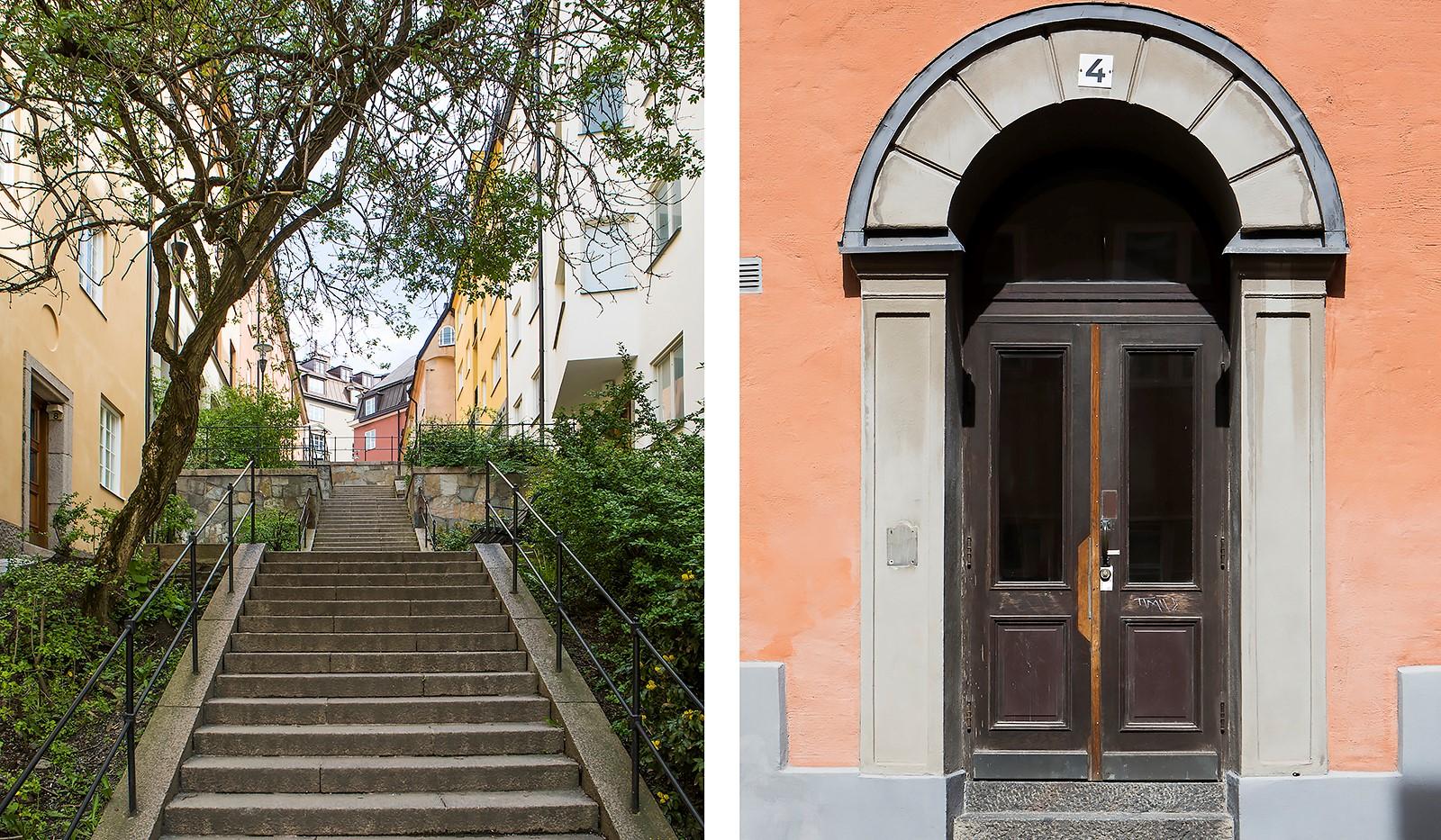 Maria Prästgårdsgata 4 - Vacker trapp upp till lägenheten