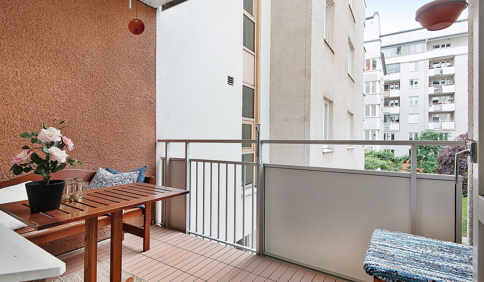 Fatburs Kvarngata 28 - Mysig balkong med viss kvällsol