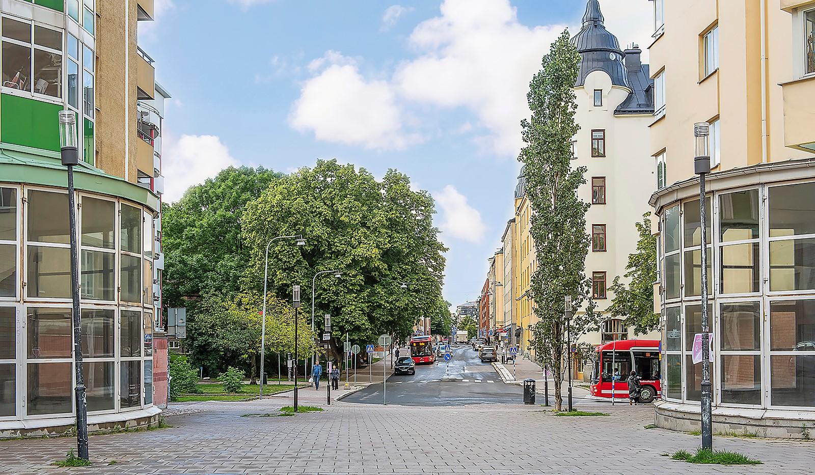 Fatburs Kvarngata 28 - Timmermansgatan - ny stil möter gamla byggnader