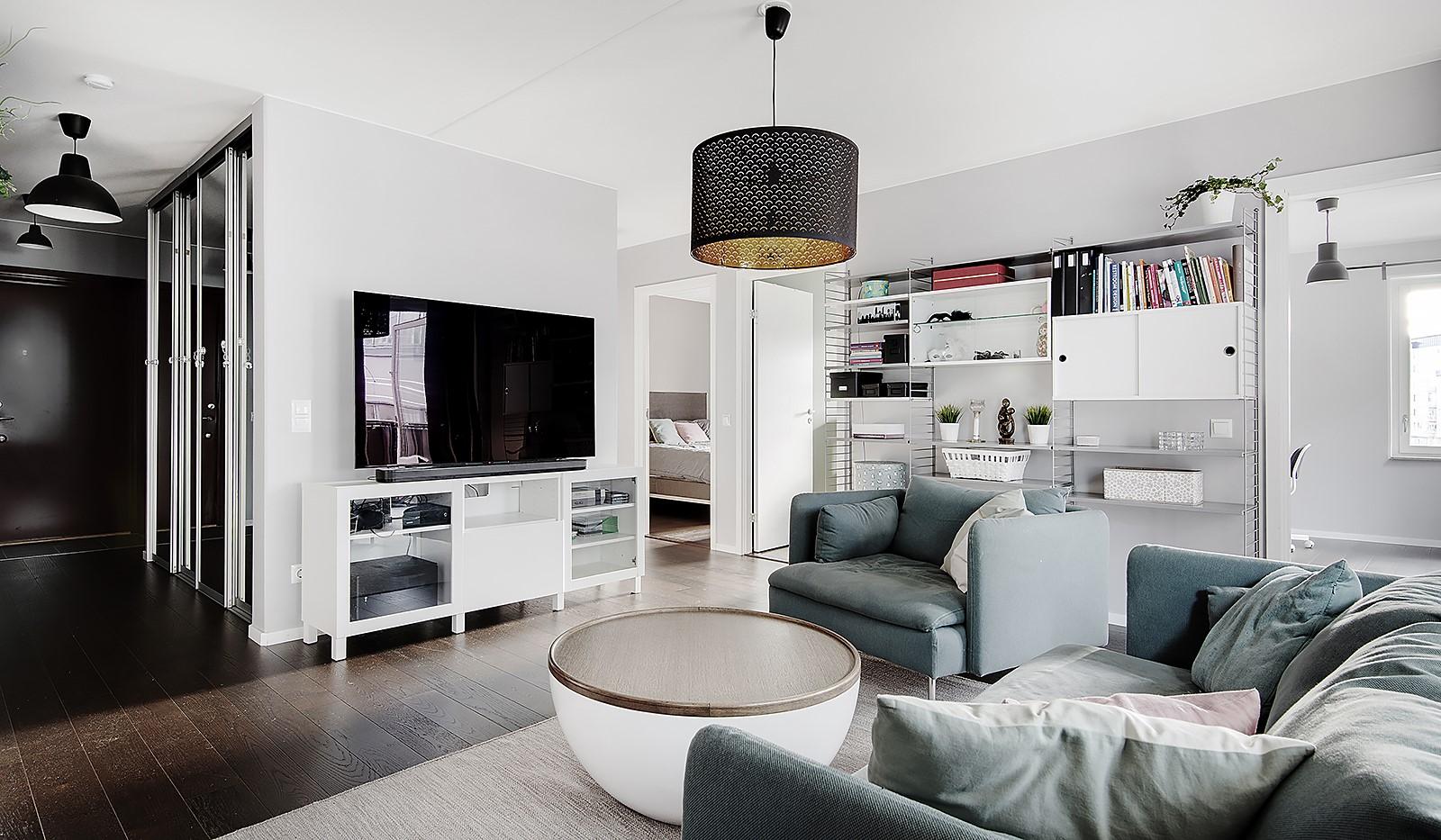 Oskarslundsbacken 1, 2tr - Lätt att möblera i vardagsrummet