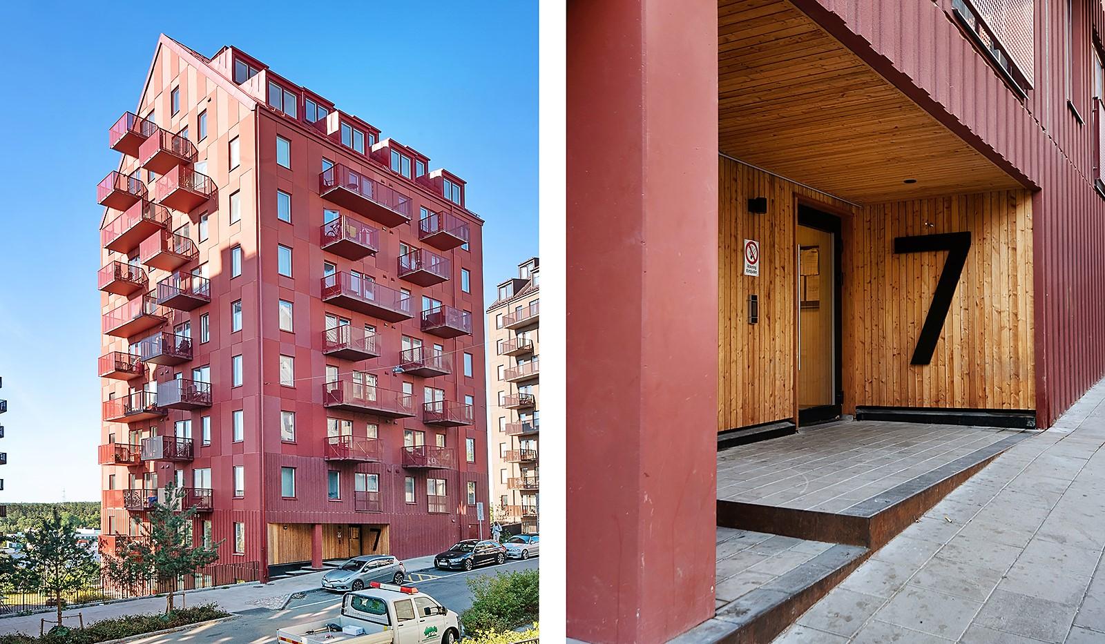 Lagmansbacken 7, 7tr - Fasad och entrén