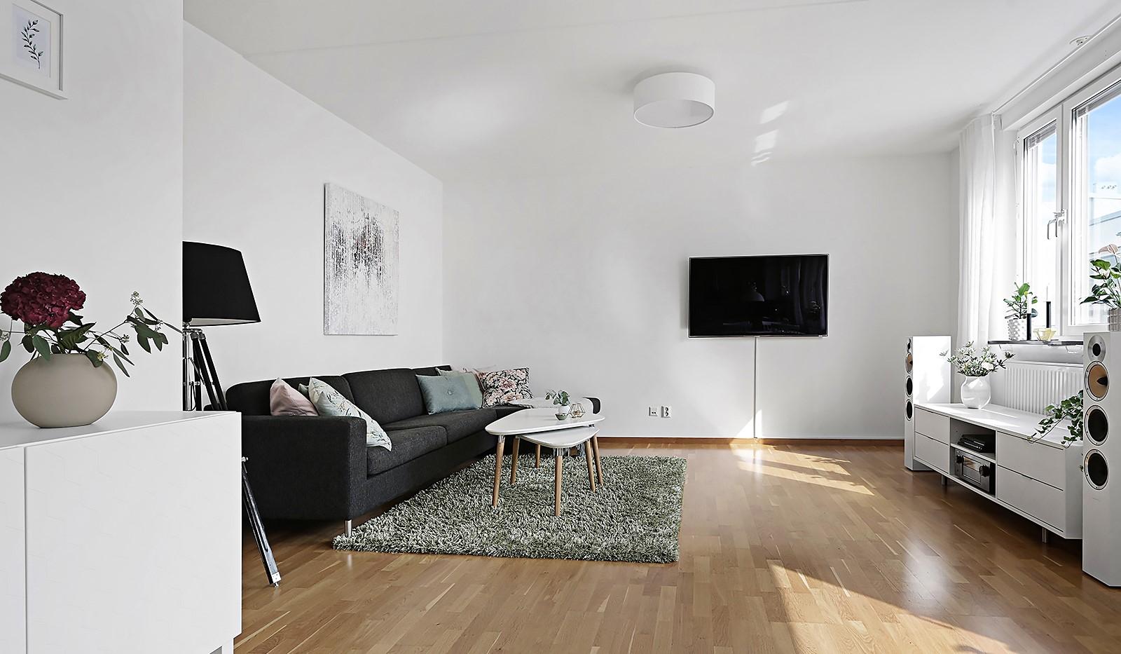 Grönbrinksgatan 8, 6 tr - Ljust och luftigt vardagsrum