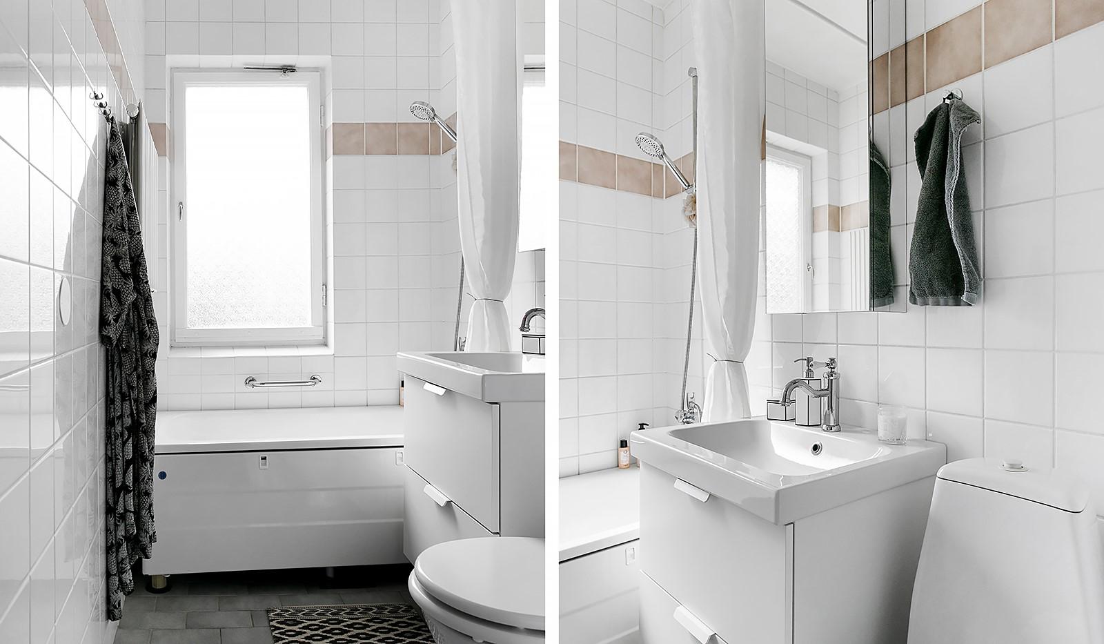 Kolbäcksgränd 28, 2 tr - Helkaklat badrum med fönster