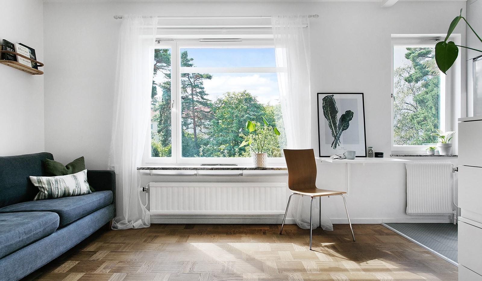 Kolbäcksgränd 28, 2 tr - Härligt ljusinsläpp från stora fönster