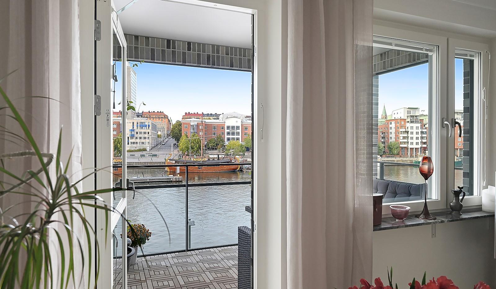 Fredriksdalsgatan 24, vån 2 - Balkongen nås från kök/vardagsrum