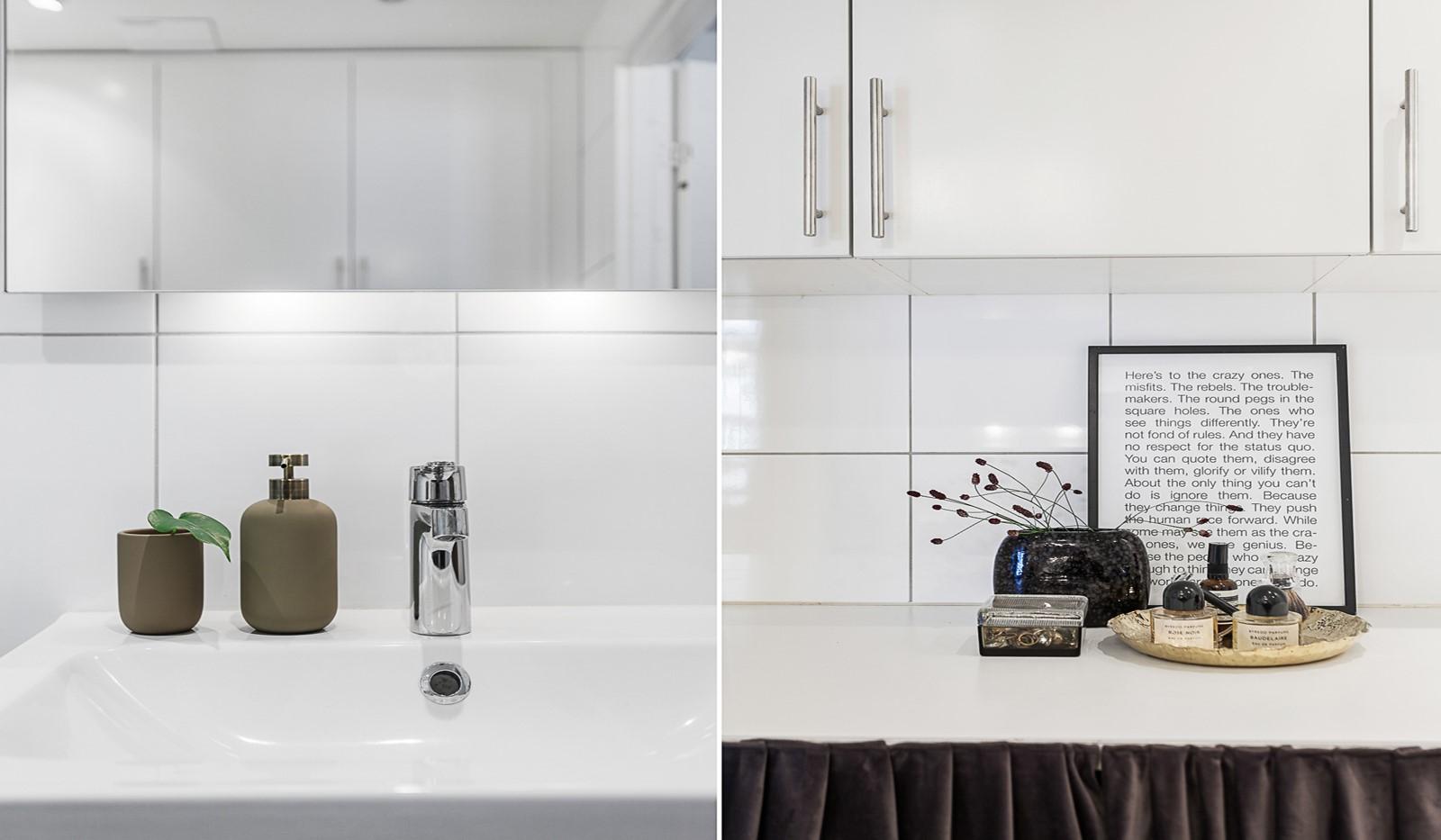 Grönbrinksgatan 10, 5 tr - Badrummet är utrustat med tvättmaskin och torktumlare