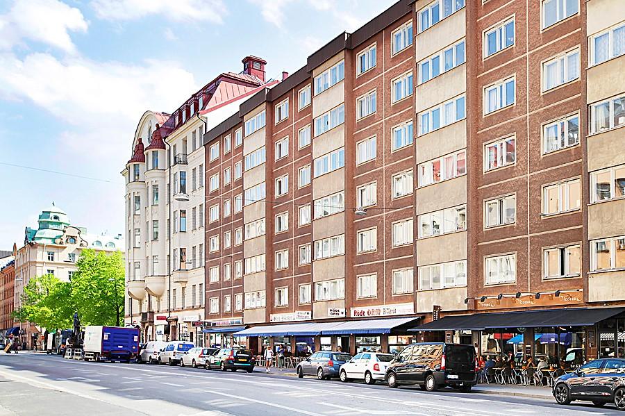 Hornsgatan 37, 1 tr - Fastigheten med Mariatorget runt hörnet