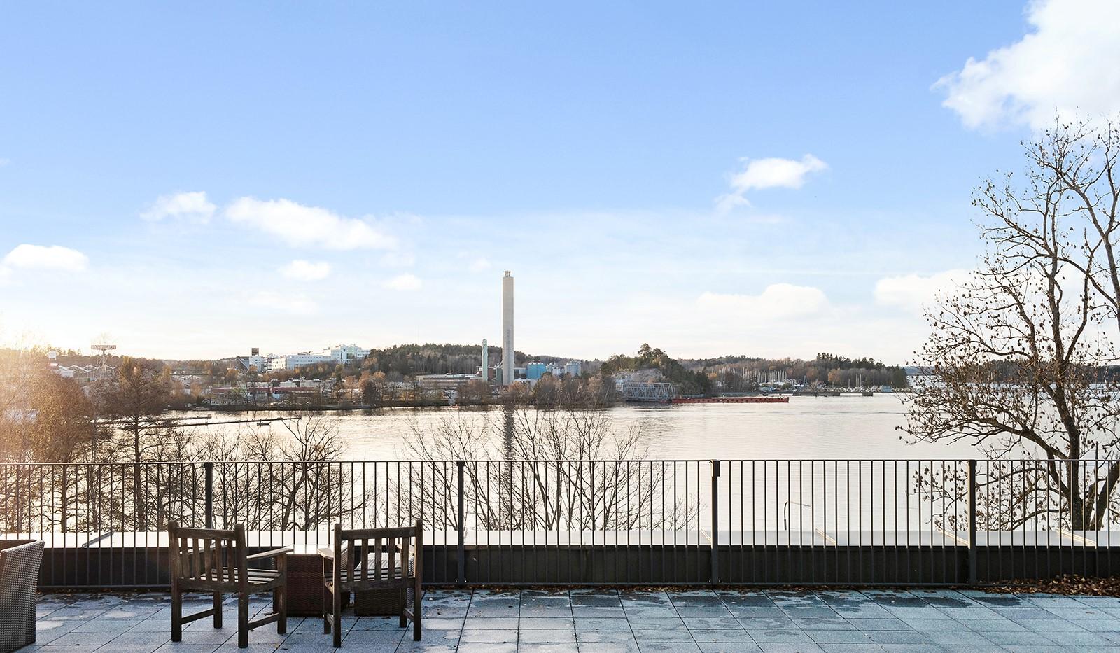 Vårby allé 31, 1tr - Utsikt från den gemensamma takterrassen