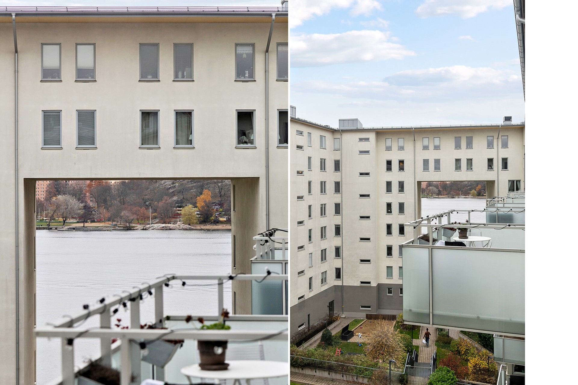Sjöviksvägen 39, 5tr - Utsikt från ena barnrummet.