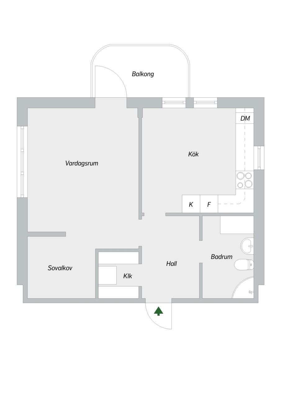 Skarpbrunnavägen 11, 4tr - Planritning
