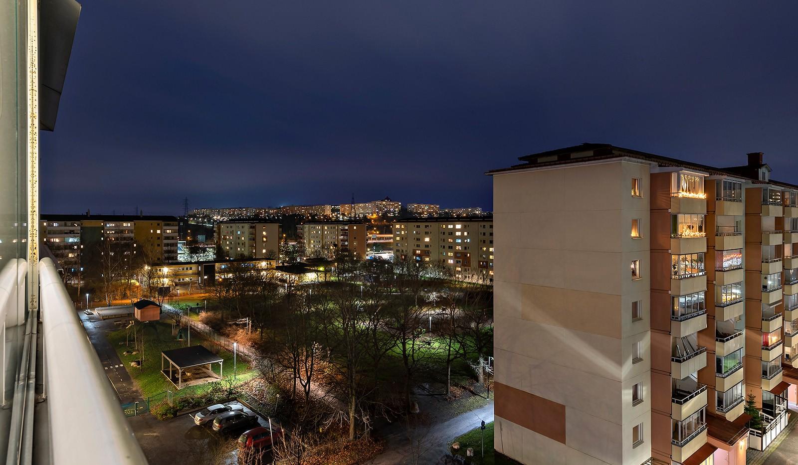 Linvägen 12, 6tr - Utsikt från balkongen