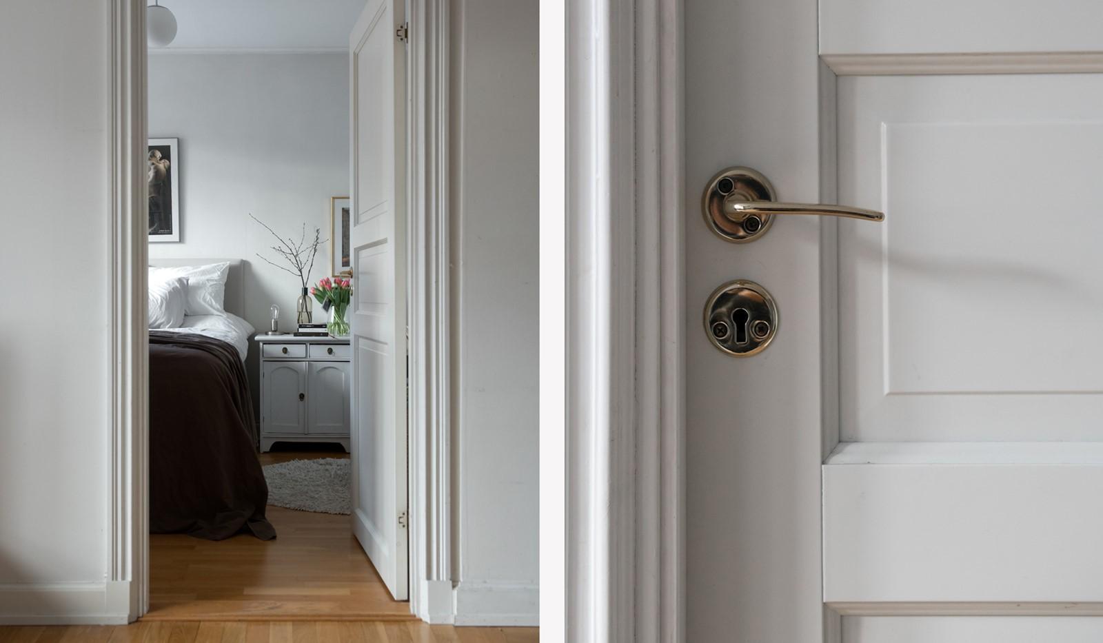 Östgötagatan 32, 4tr - Vackra detaljer så som speglade dörrar
