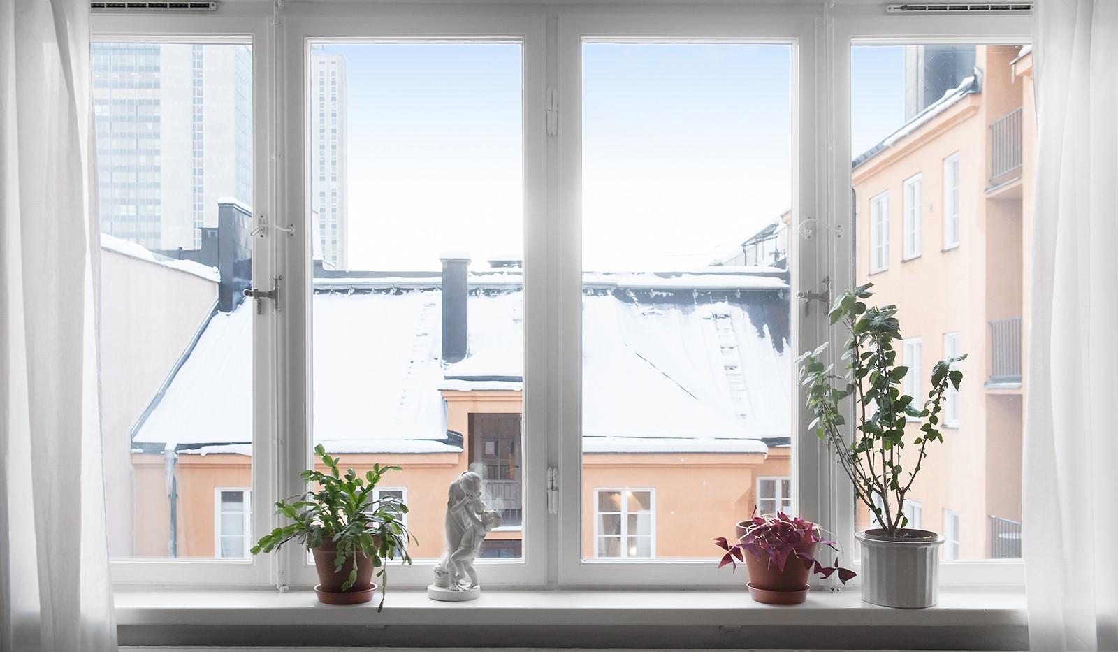 Östgötagatan 32, 4tr - Vacker vy från lägenheten
