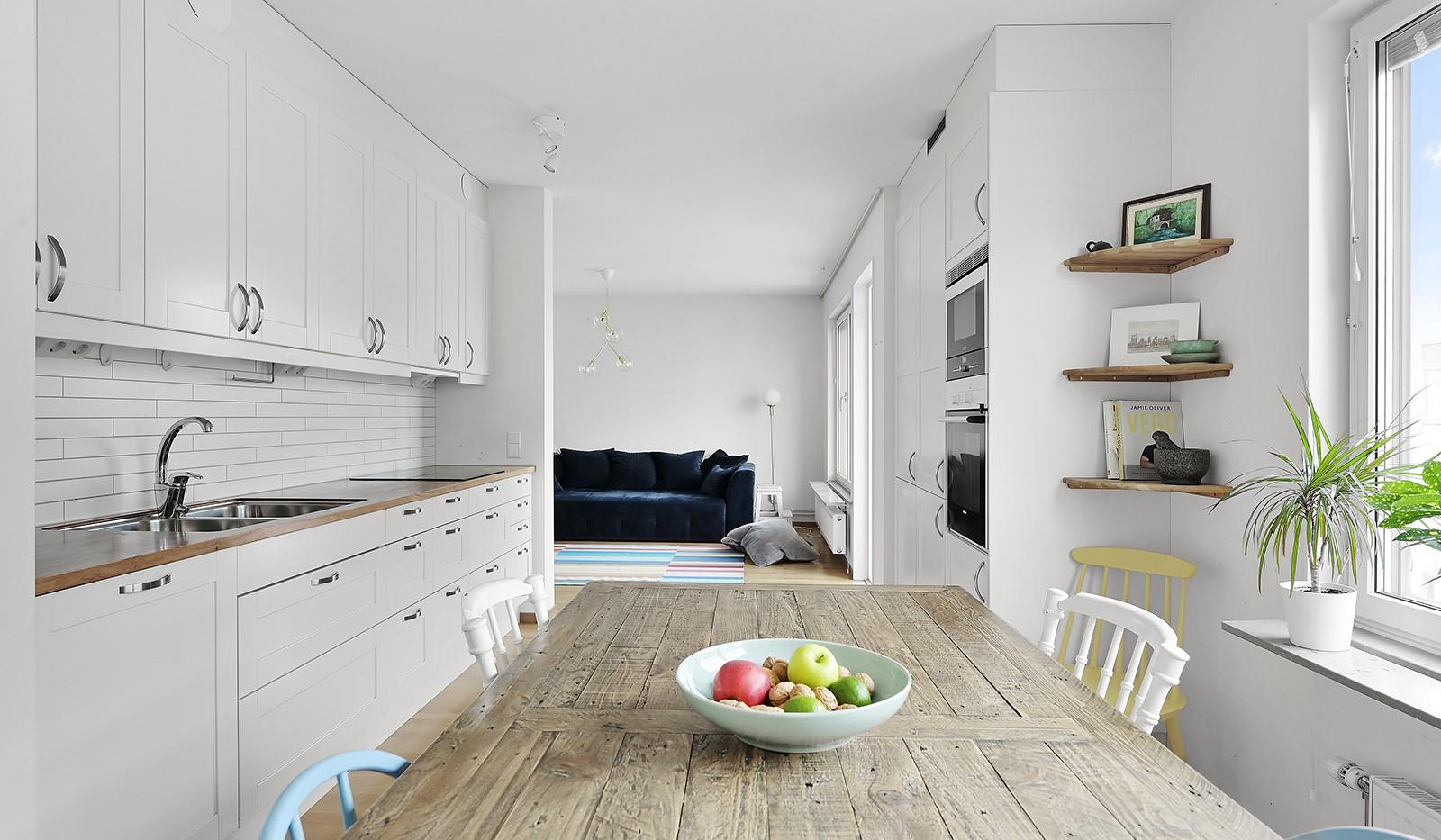 Marieviksgatan 38, 6 tr - Snyggt integrerade vitvaror
