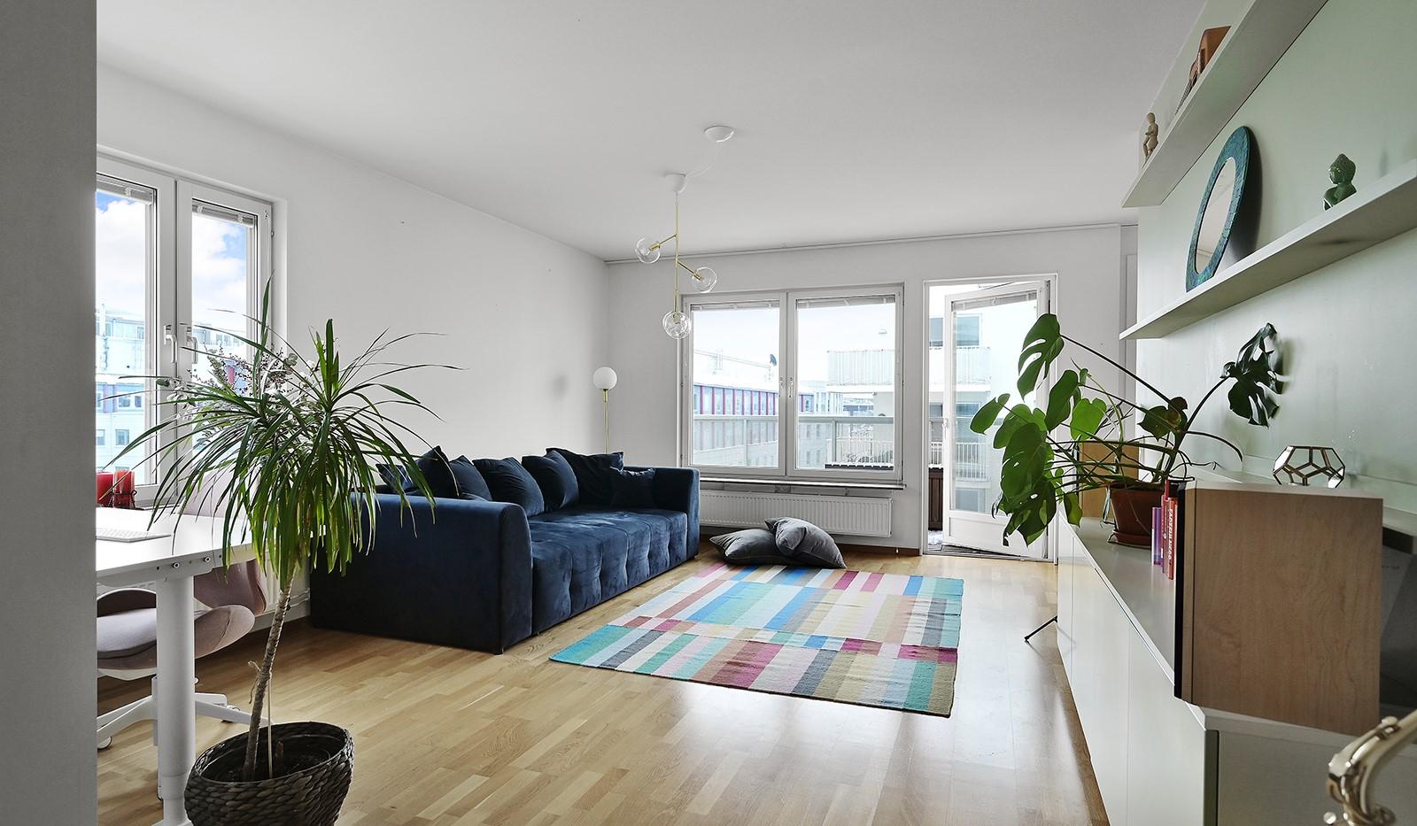 Marieviksgatan 38, 6 tr - Ljust och rymligt vardagsrum