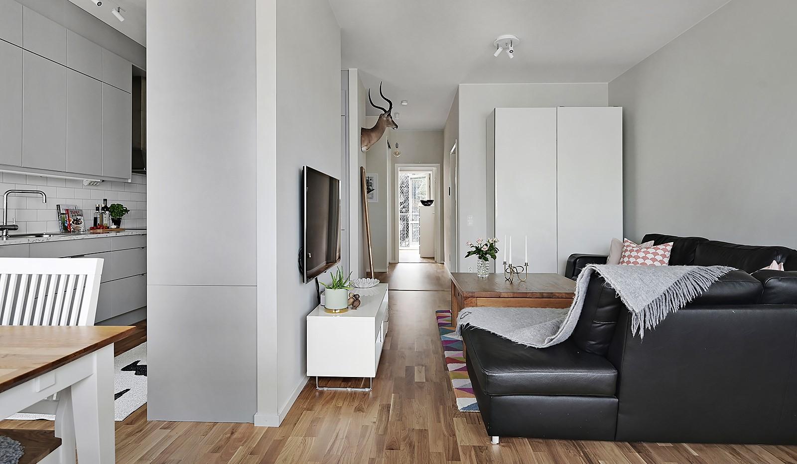 Sjöviksvägen 128, 7 tr. - Kök och vardagsrum är precis lagom avdelat