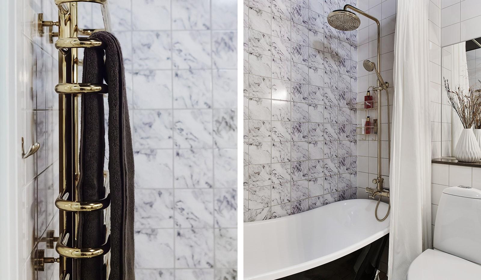 Korphoppsgatan 25, 2 tr Gårdshus! - Badrummet är stilrent uppdaterat med smakfull inredning