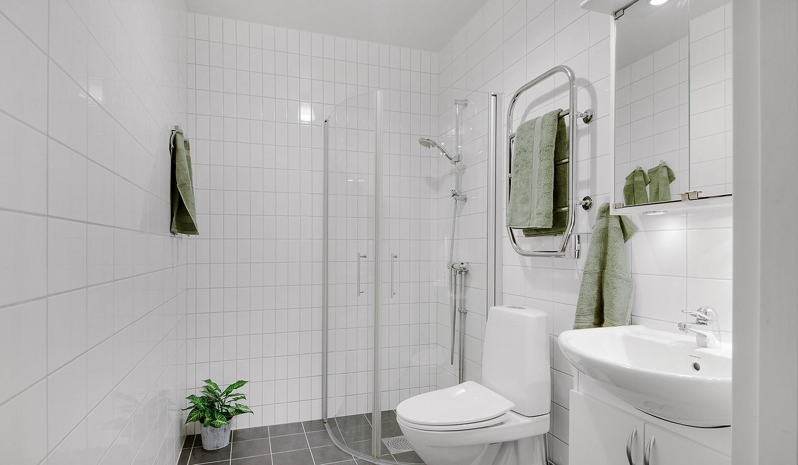 Grönbrinksgatan 6, 4tr - Badrum utrustat med dusch