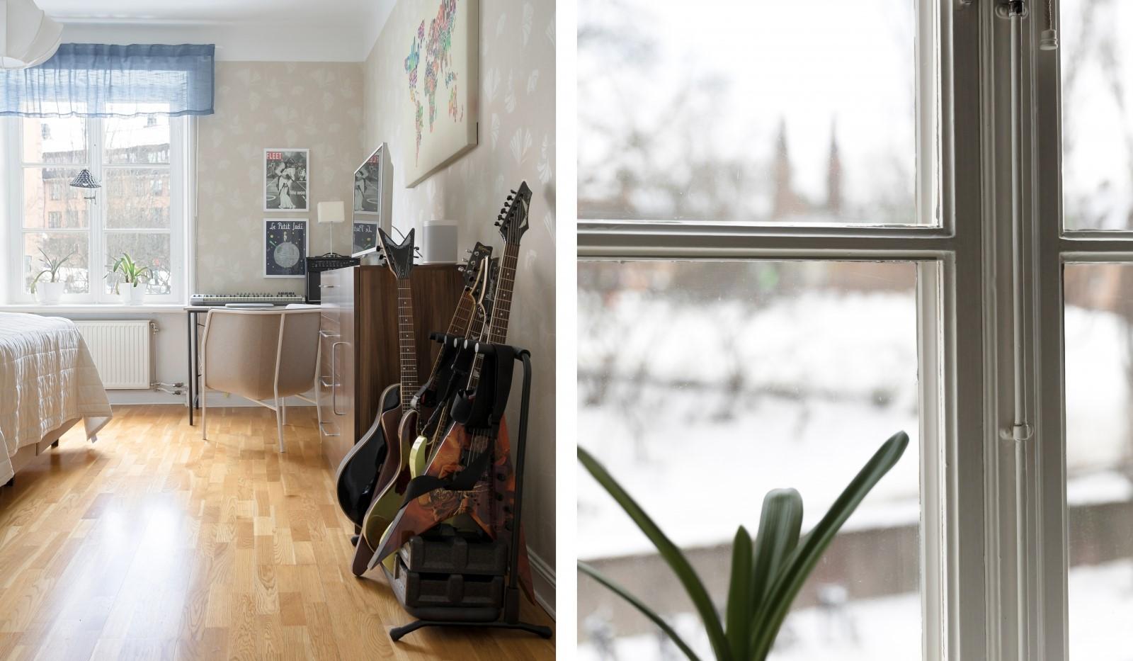 Folkskolegatan 20 - Härliga 20-tals fönster med spröjs