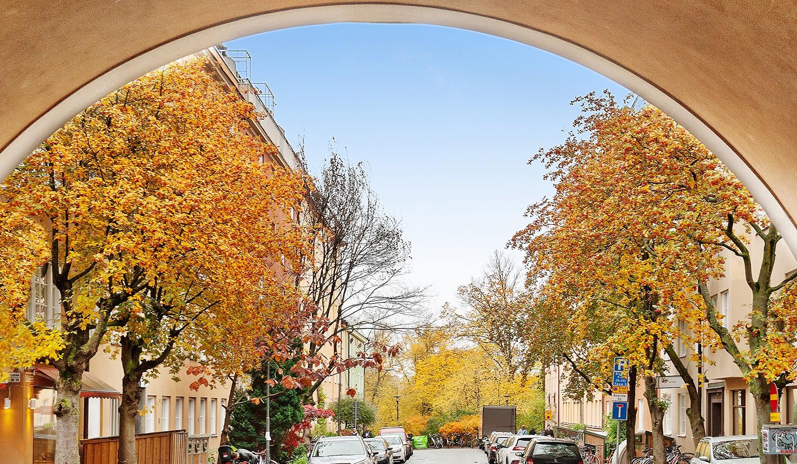 Folkskolegatan 20 - Folkskolegatan mot Långholmen
