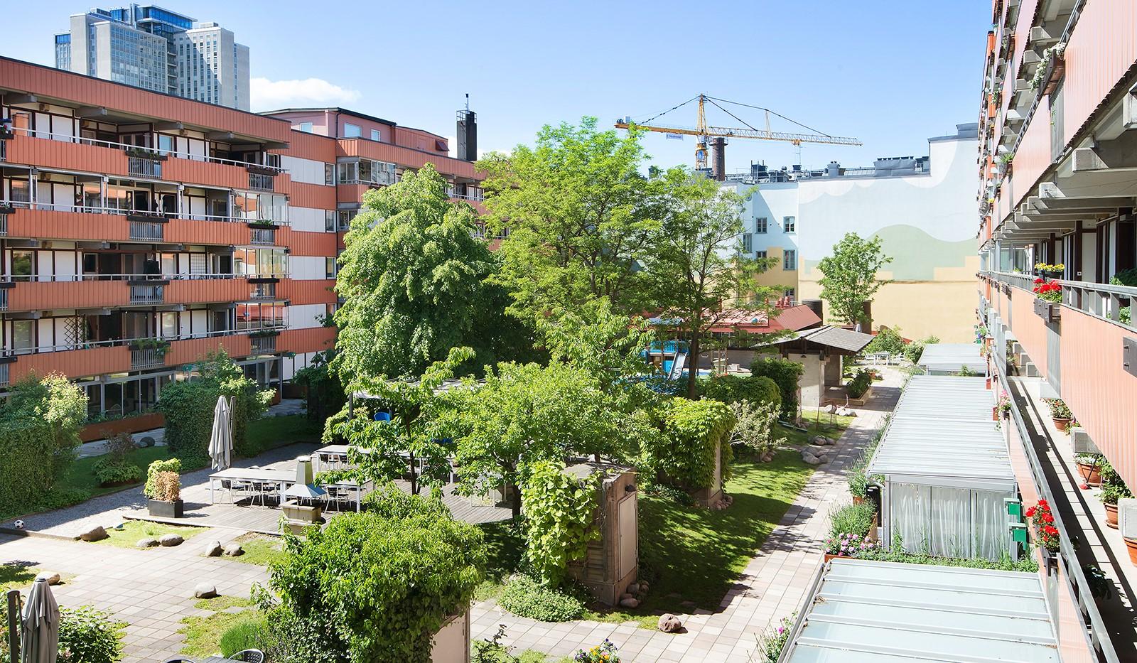 Folkungagatan 58 - Föreningens fantastiska innergård